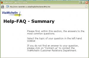 michelin FAQ